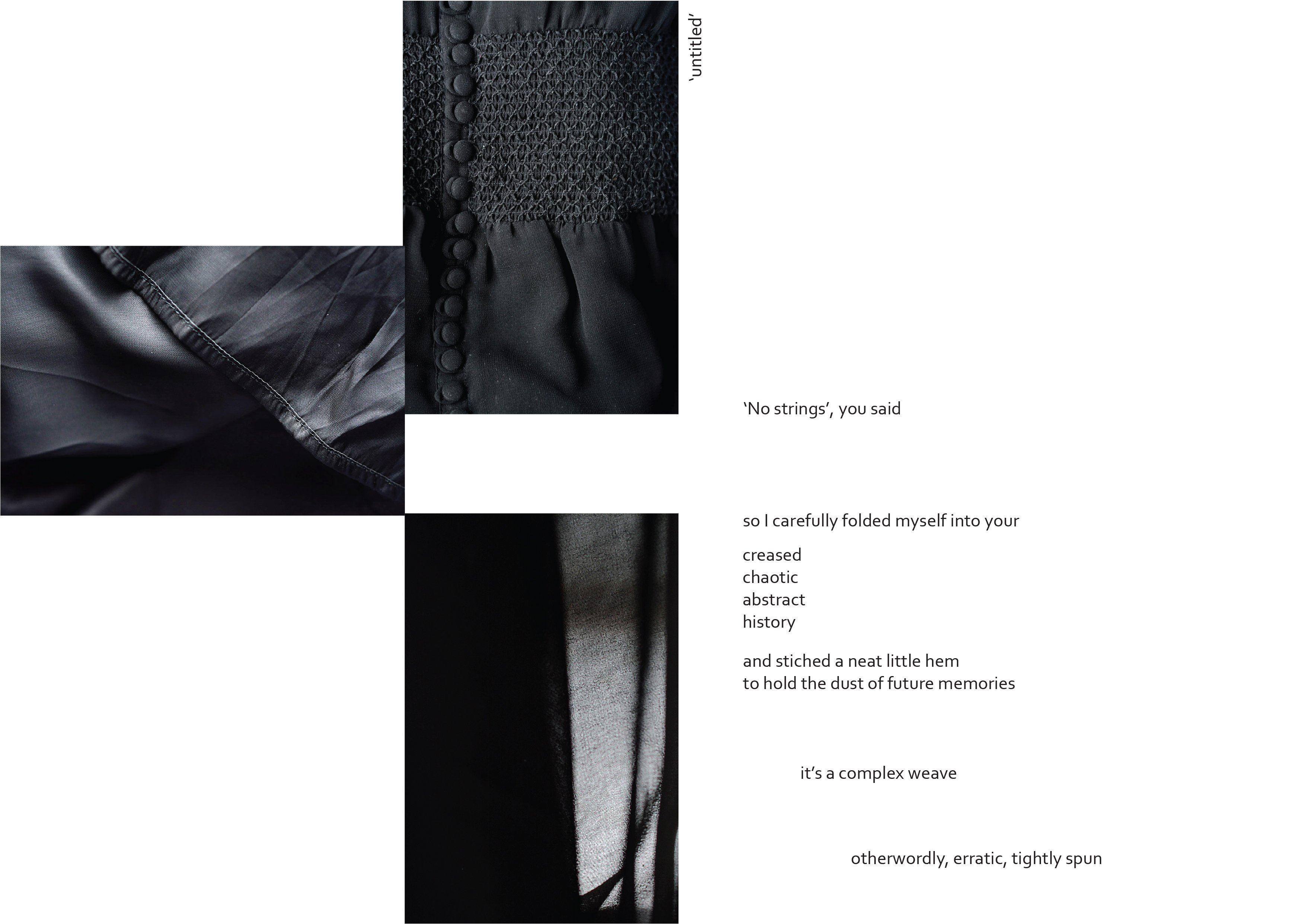 Black dress poem
