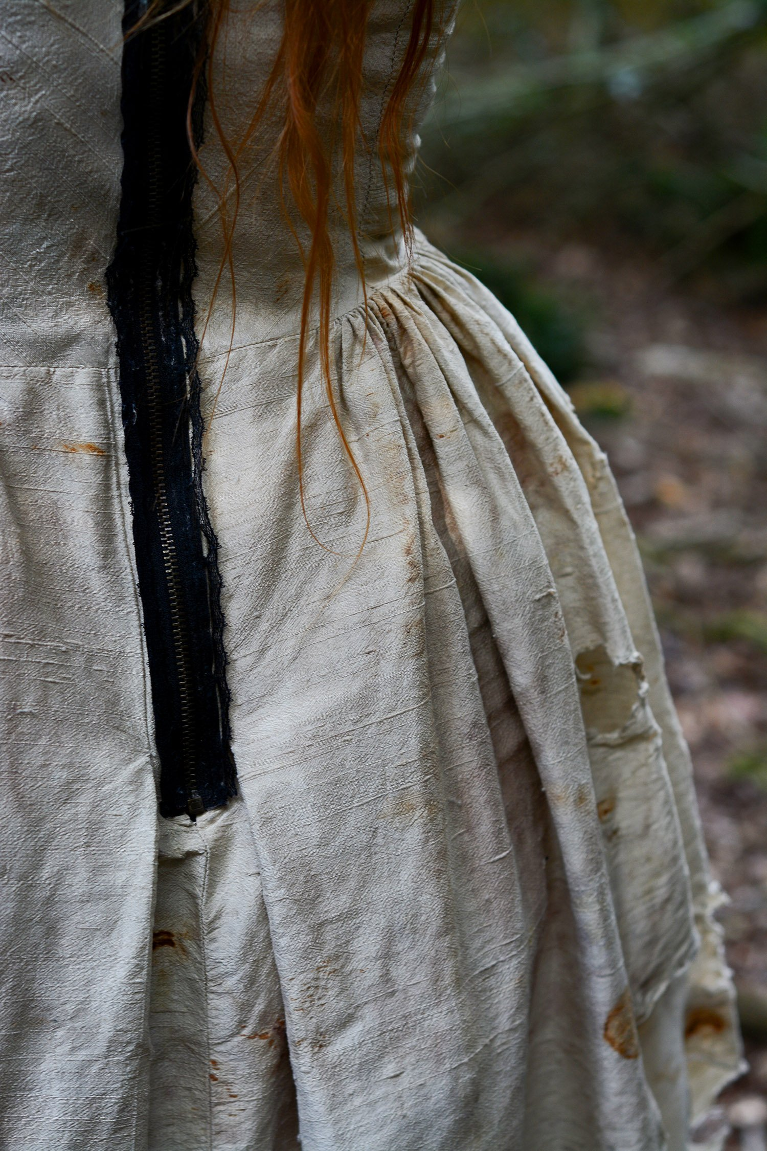 Detail of buried dress